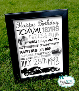 Car Lovers Birthday Print