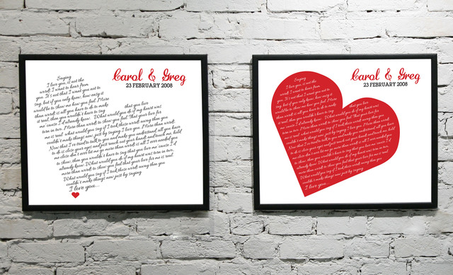 Wedding Song Lyric Print