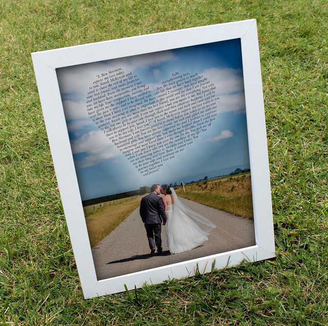 Wedding Vow Photo Prints