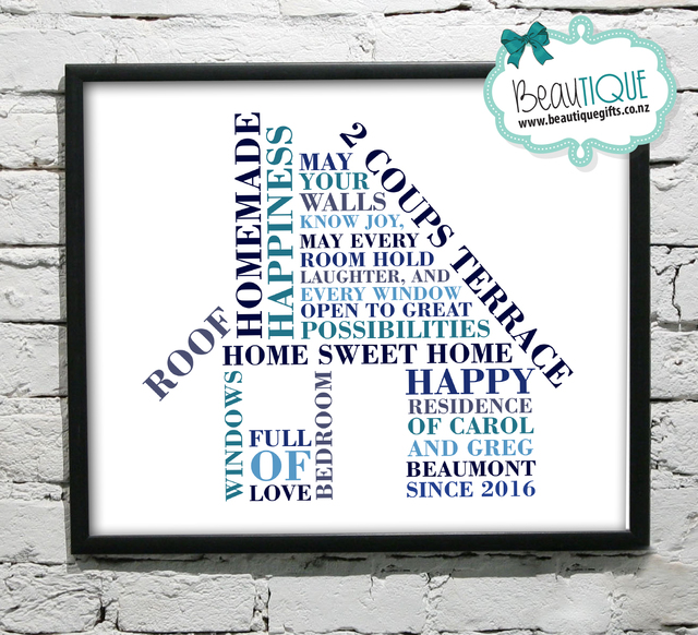 Personalised HOUSE Word Art