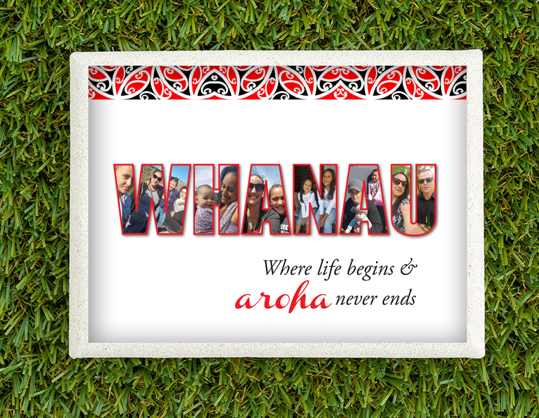 Personalised WHANAU print