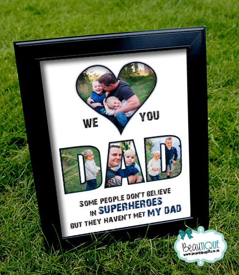 We love you DAD print