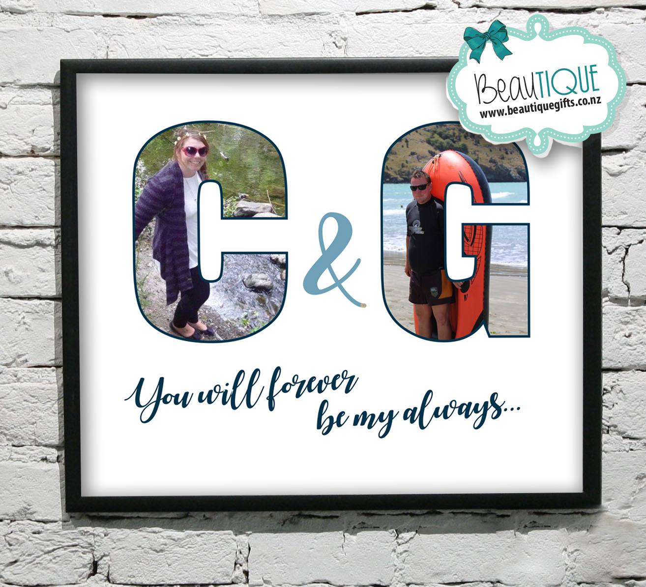 Personalised Initials Photo Art