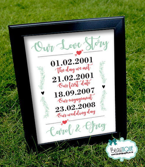 Our love story print