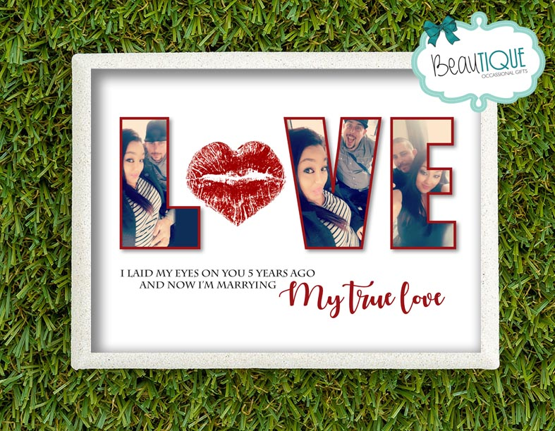 Personalised My True Love Print