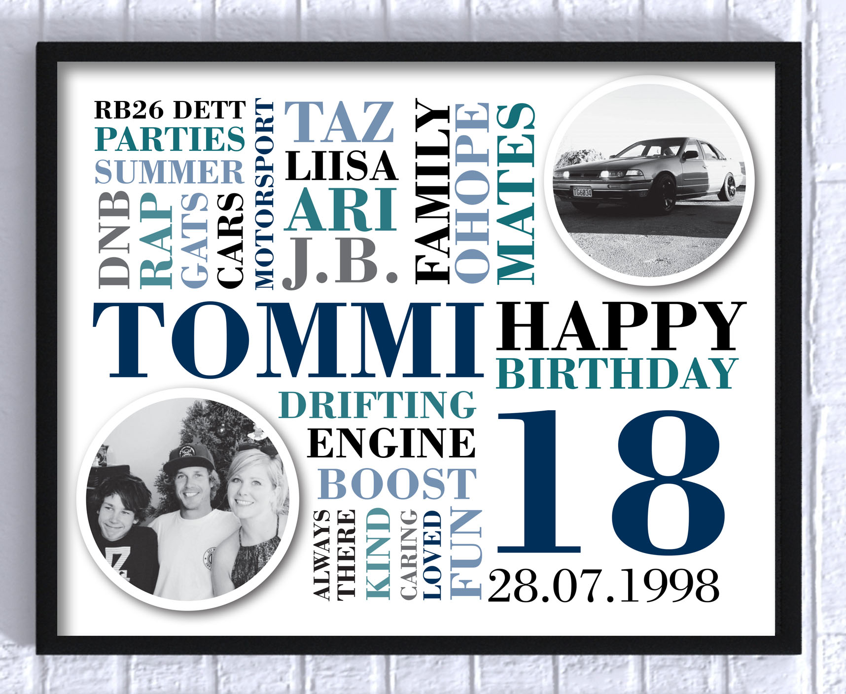Personalised BIRTHDAY Print